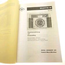 Original Agfa Selecta M TYP 2220 Reparaturanleitung  mit Ersatzteilliste Top 644
