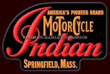 """INDIAN MOTORCYCLE EMBROIDERED PATCH ~5-1/4"""" x 3-1/2"""" CHIEF SCOUT ROADMASTER V2"""