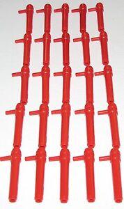 Lego Lot De 25 Rouge Mini Figurine Blasters Cylindre Canons Bazooka Pièces
