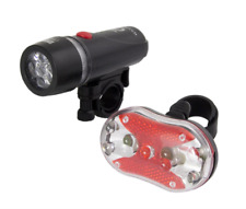 Battery Bike Bicycle LED Lamp Front Head and Rear Tail Light Commuter Kit / Set