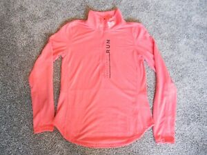 Under Armour UA Ladies Half Zip Running Top Training Pullover Long Sleeve XS