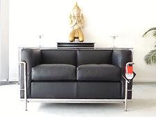 Cassina Le Corbusier LC 2 2-Sitzer, Leder schwarz, Chrom, Top, inkl.19% MwSt.!