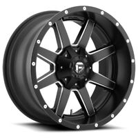 """Fuel D538 Maverick 20x9 8x180 +1mm Black/Milled Wheel Rim 20"""" Inch"""