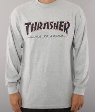 Independent Skateboard Trucks Thrasher Mag TTG- LS -T Shirt Men's XL Heather