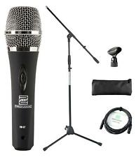 DJ PA Gesangs Live Mikrofon Set Mikrophon Ständer Vocal Mikro Kabel Mic Klemme