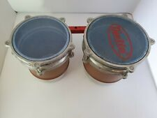 More details for a pair of pelin turkish made bongo drums with fixed mount 16cm & 18cm