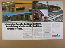 1976 PepsiCo Building Systems Modular Temporary Relocatable vintage print Ad
