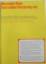 Brochure MERCEDES -BENZ fabrication . usine . bilan de 1972 en allemand