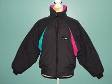 Sunice Ski Jacket Vintage Black Hot Pink Turquoise sz 12 Winter Puff USA