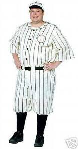 Old Time Baseball Player Halloween Costume XXL