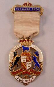 1924 Silver Gilt Masonic Stewards Jewel - Royal Masonic Institution For Girls