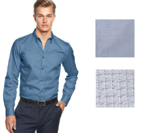 Calvin Klein Men's Long Sleeve Slim Fit Dress Shirt