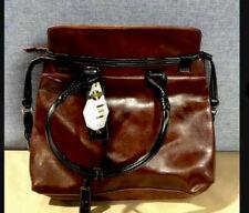 La Philipe Designer Shoulder Bag Purse Handbag With Leather Straps And Trim NWT