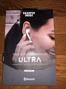 NEW Sharper Image True Wireless Earbuds Ultra in White Great Alternative Air Pod
