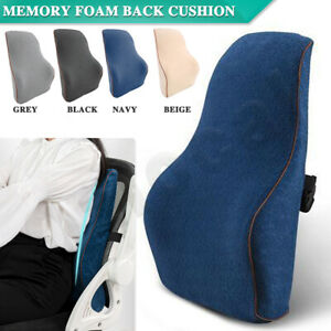 Memory Foam Back Cushion Seat Waist Lumbar Back Support Pillow Home Car Office