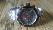 MENS TISSOT PRS200 CHONOGRAPH BLACK BEZEL SWISS MADE WRISTWATCH T067417A