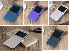 COVER CASE BOOK WINDOW ALCATEL SHINE LITE TOUCH WOOD + GLASS TO CHOOSE