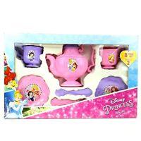 Girls Disney Royal Princess Tea Set 8pc Snow White Belle Cinderella Ariel Age 3+