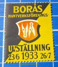 Cinderella/Poster Stamp - 1933 Sweden Borås Hantverksförenings Utställning 848