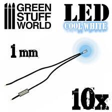 Cold WHITE micro LED Lights - 1mm - Scenery Miniature lighting train infinity