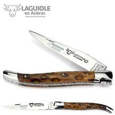 Laguiole en Aubrac - 12 cm Taschenmesser - Cholla Kaktus - Platine guillochiert