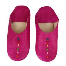 Babouche Pink Bunte Dots Orientalische Hausschuhe Marokkanischer Lederpuschen