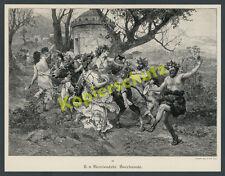 Siemiradzki antiguos romanos orgía mujeres baile bacanal vino culto mitología 1893