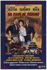 55 DAYS AT PEKING Movie POSTER 27x40 B Charlton Heston Ava Gardner David Niven