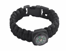 Black Premium Camping Hiking Compass Wristband Navigation bracelet Survival Tool