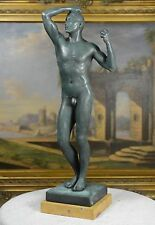 Rodin Bronze Nude Male statue The Age of Bronze ~ The Vanquished ~The Bronze Age