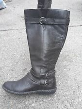 Born BOC  Tall Riding Boots SZ 7 Used Side Zip Brown Winter Snow Casual