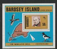 BARDSEY ISLAND ROWLAND HILL CENTENARY 50p MINIATURE SHEET MNH / UNMOUNTED