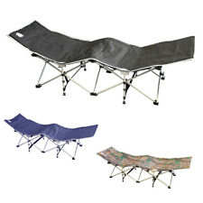 Evelyne Outdoor Camping Folding Travel Cot Bench Lounge Chair Bed