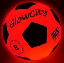 Light Up Led Soccer Ball Blazing Red Edition|Glows The Dark with Hi-Bright Led's
