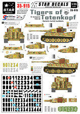 Star Decals 35-915, Decals for TIGERS of SS-Totenkopf. Generic numbers 1943-45.