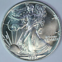 1990 American Silver Eagle - One Troy Ounce .999 Pure - Uncirculated