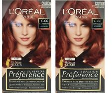 2 x LOREAL SUPERIOR PREFERENCE PERMANENT HAIR COLOUR 6.66 SANTIAGO INTENSE RED