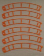 Set of 6 K'Nex #1 Orange Right Turn Tracks