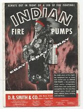 Indian Chief Fire Pumps Native Print Photo Vintage Ad 1948
