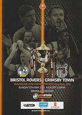 CONFERENCE PLAY OFF FINAL 2015 BRISTOL ROVERS v GRIMSBY MINT PROGRAMME