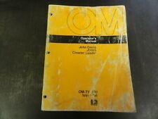 John Deere Jd555 Crawler Loader Operators Manual