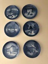 Set/6 Royal Copenhagen Blue Christmas Plates 1967/1969/1972/1973/1975/ 1976 Euc