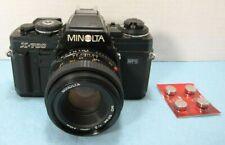 Minolta X-700 MPS BLACK 35mm SLR Film Camera + 50mm f/2 Lens -WORKS NEEDS SEALS