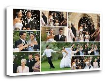 Your Photo Collage Canvas Canva Print - Personalised on Box/Wrapped Many Size