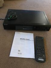 Sony Minidisc MDS-JE510 Player/Recorder Wig Remote And Manual
