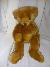 "Art C Bear Brown Teddy Green Foot Print Russ Plush 12"" Toy Lovey"