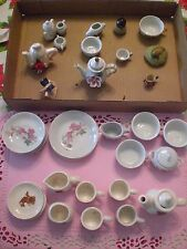 Child's Dishes and tea set.