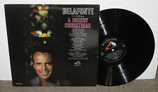 HARRY BELAFONTE Wish You Merry Christmas, orig RCA-Victor vinyl LP, 1962, VG
