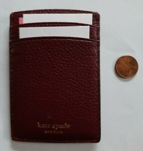 Kate Spade New York Polly Card Holder Cherrywood One Size