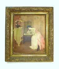 Large Painting IN Frame Oil on Canvas Belgium Um 1890